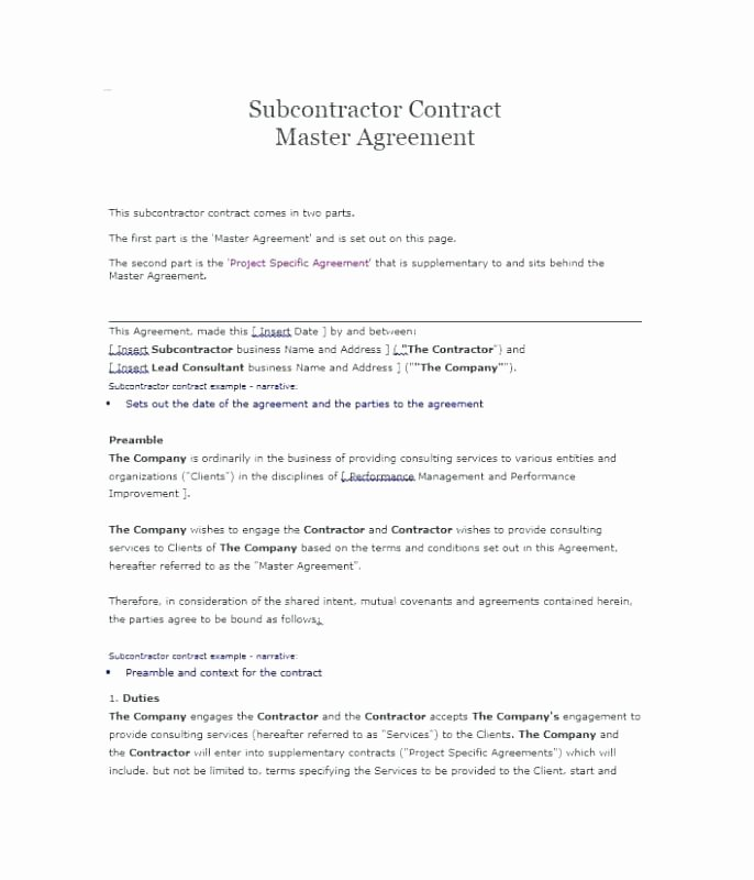 Subcontractor Non Compete Agreement Template Elegant Free Contractor Agreement form Template Independent Uk