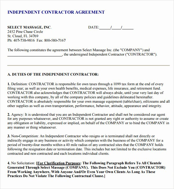 Subcontractor Non Compete Agreement Template Lovely 18 Subcontractor Agreement Templates