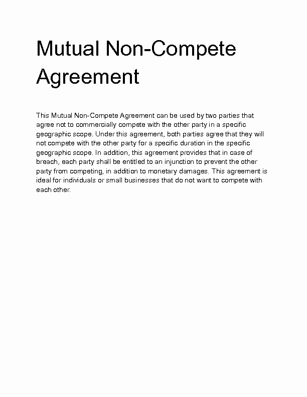 Subcontractor Non Compete Agreement Template Luxury Wel E to Docs 4 Sale