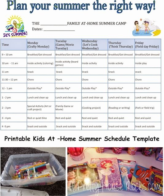 Summer Camp Daily Schedule Template Awesome Pinterest • the World's Catalog Of Ideas