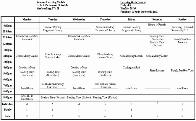 Summer Camp Daily Schedule Template Awesome Summer Camp Schedule Template Summer Camp Daily Schedule