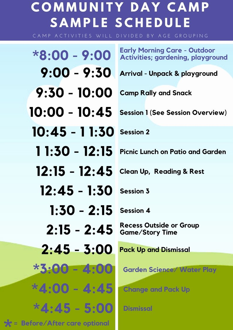 Summer Camp Daily Schedule Template Elegant Click to View Sample Schedule Pdf Click the Summer