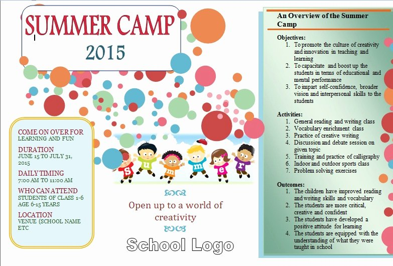 Summer Camp Daily Schedule Template Fresh 27 Of Summer Camp Activity Schedule Template