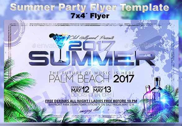 Summer Party Flyer Template Beautiful 47 Summer Party Flyer Templates Psd Ai Vector Eps