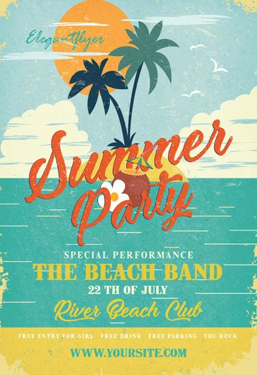 Summer Party Flyer Template Beautiful Free Summer Flyer Templates Psd