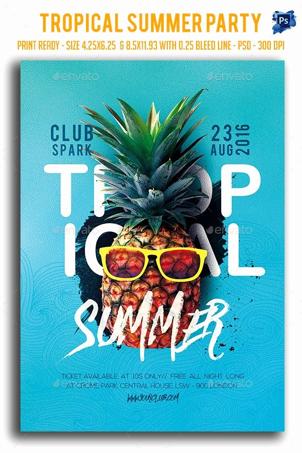 Summer Party Flyer Template Beautiful Pin by Best Graphic Design On Awesome Summer Party Flyers