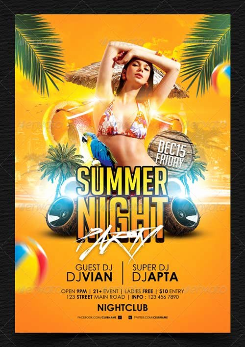 Summer Party Flyer Template Beautiful top 25 top New Summer Psd Flyer Templates for Shop