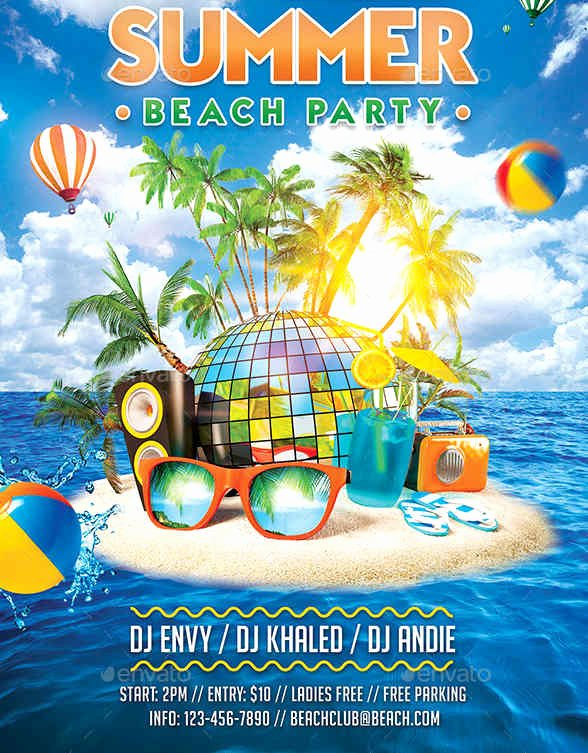 Summer Party Flyer Template Best Of 9 Summer Party Flyers Design Templates