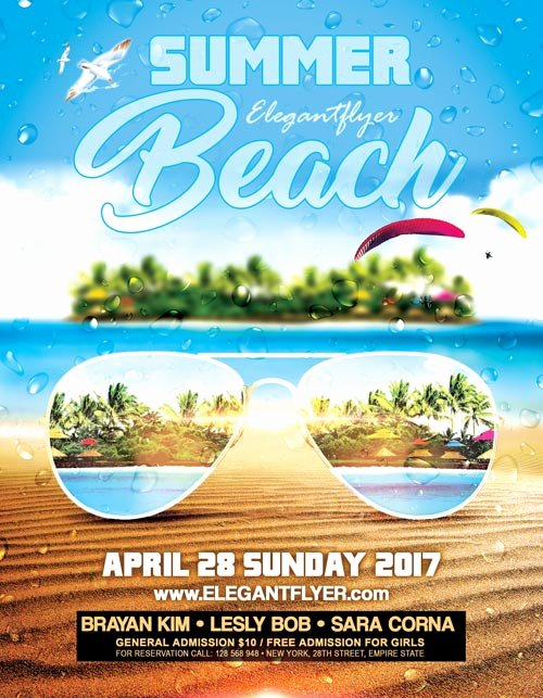 Summer Party Flyer Template Elegant Summer Beach Party event Psd Flyer Template Download Free