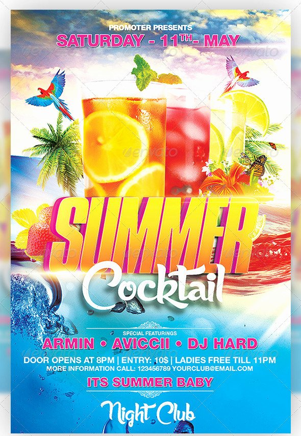Summer Party Flyer Template Fresh 47 Summer Party Flyer Templates Psd Ai Vector Eps