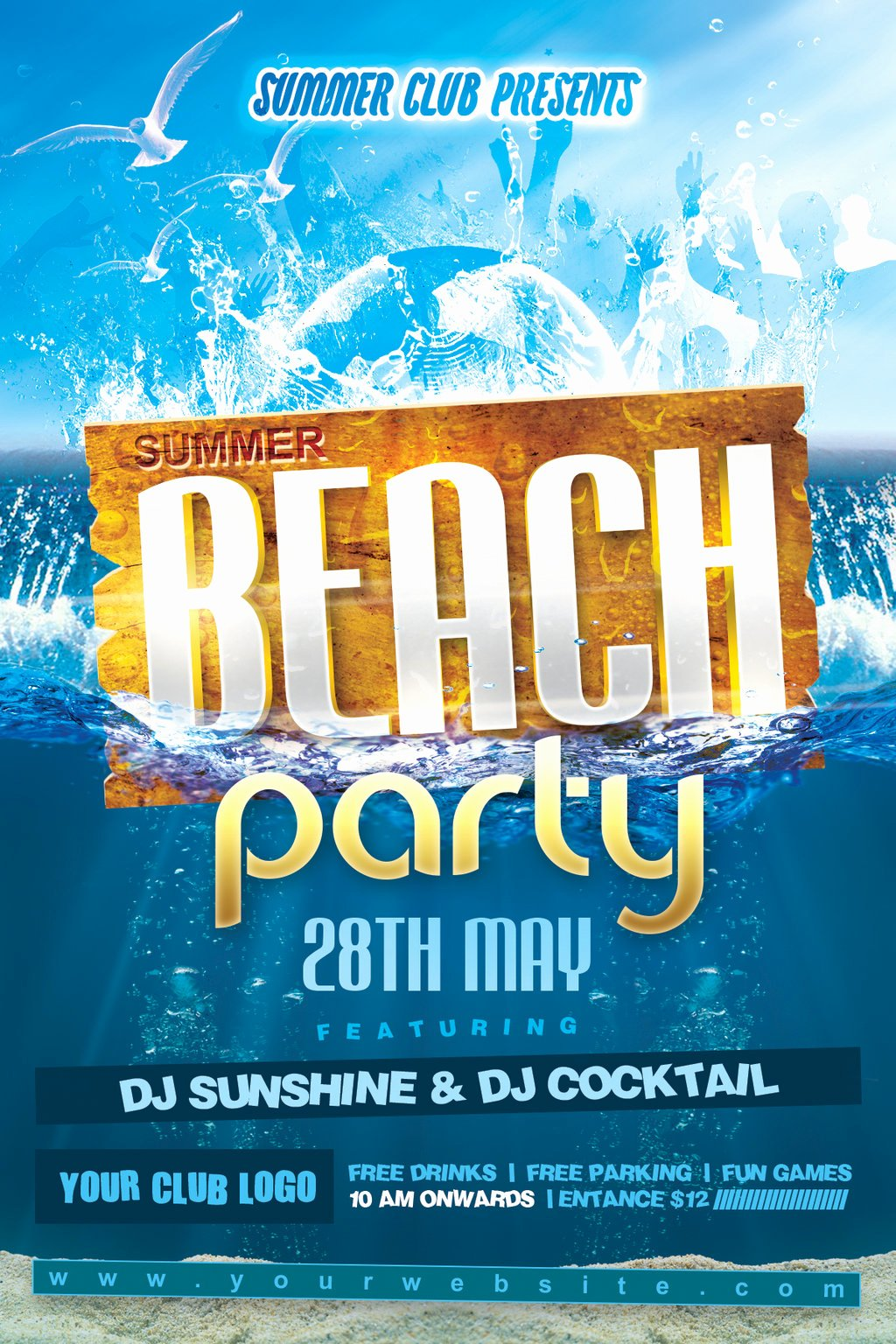 Summer Party Flyer Template Fresh Summer Beach Party Flyer by Dilanr On Deviantart