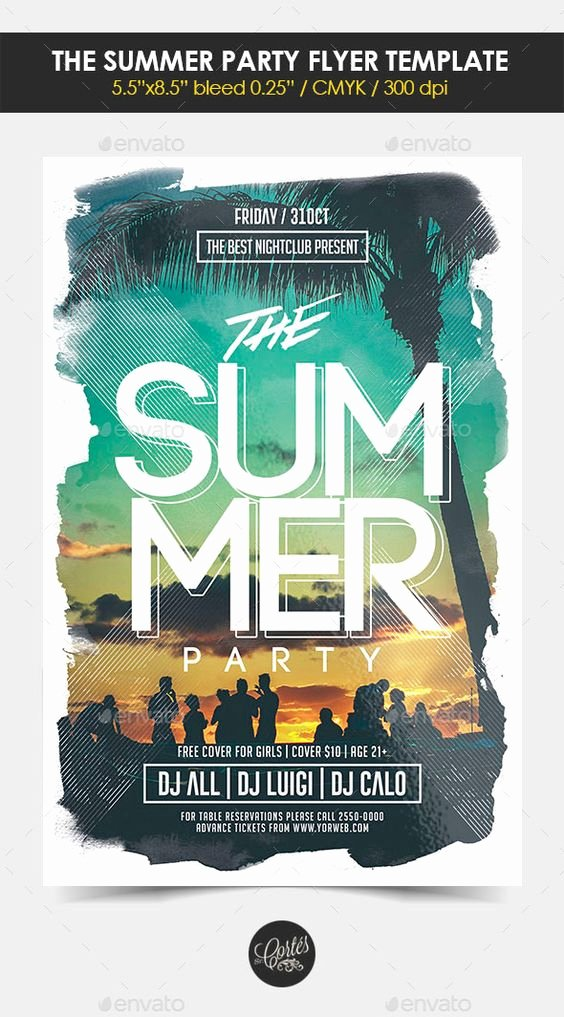 Summer Party Flyer Template Inspirational Summer Messages and Party Flyer On Pinterest