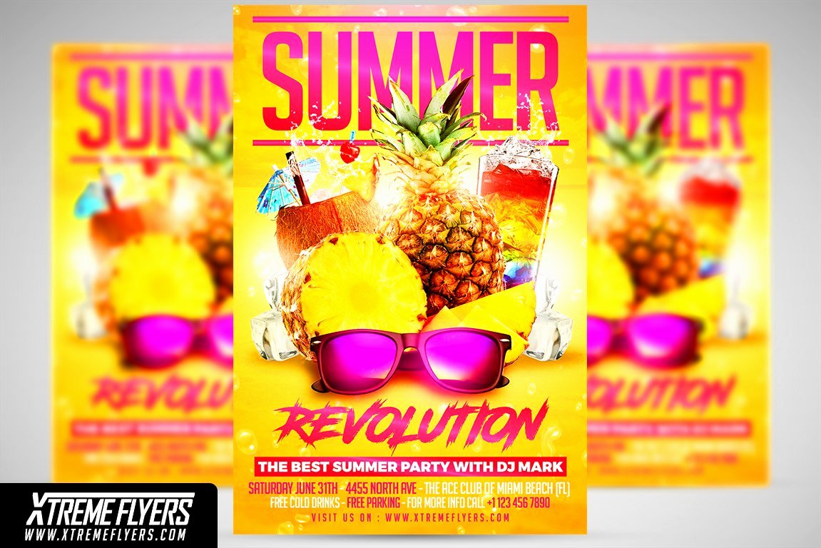 Summer Party Flyer Template Inspirational Summer Party Flyer Template Flyer Templates Creative