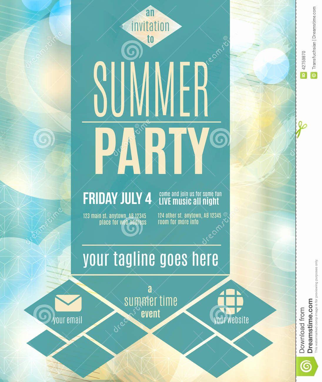Summer Party Flyer Template Lovely Modern Style Summer Party Flyer Template Download From Ov