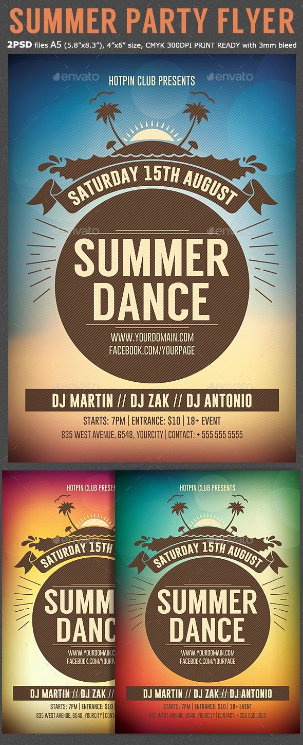Summer Party Flyer Template Lovely Summer Dance Party Flyer Tempalte Design Download