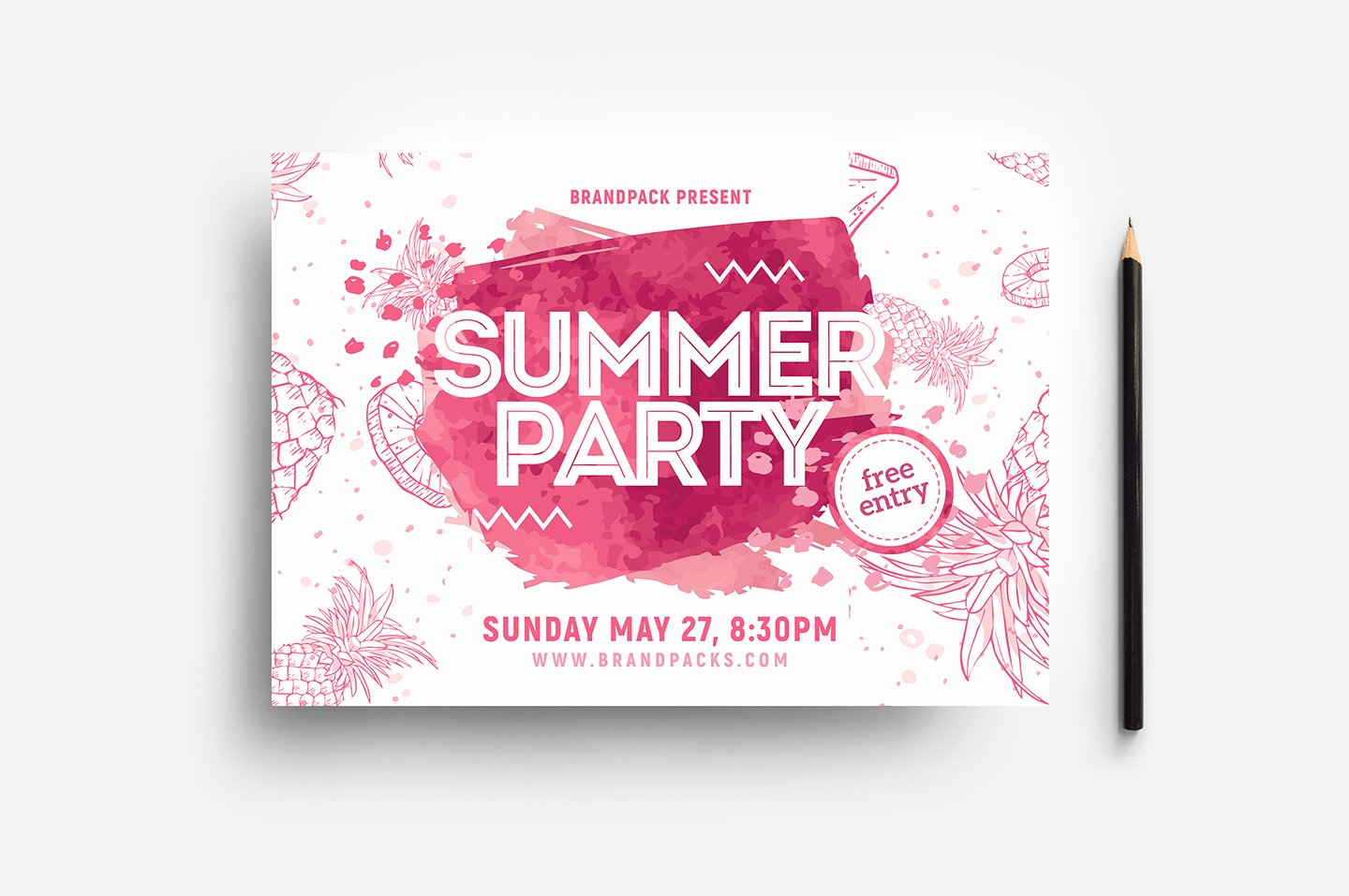 Summer Party Flyer Template Lovely Summer Party Flyer Template Psd Ai & Vector Brandpacks