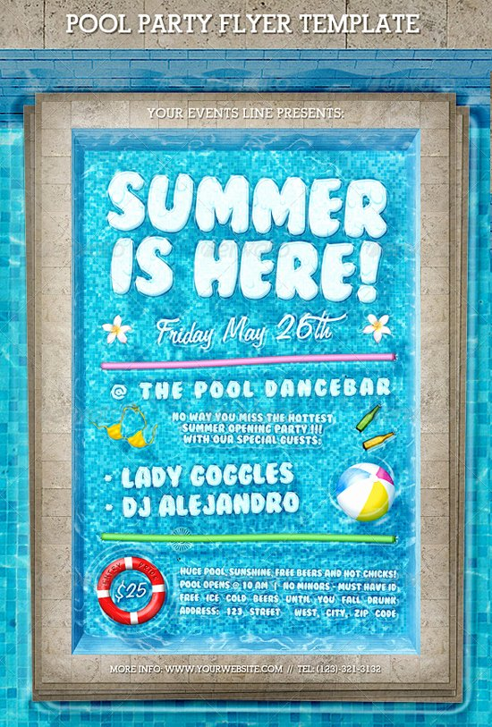 Summer Party Flyer Template Lovely top 50 Summer Beach Party Flyer Templates 56pixels