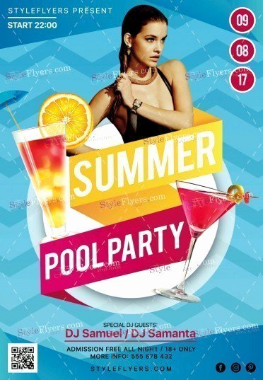 Summer Party Flyer Template Luxury Summer Pool Party Psd Flyer Template Styleflyers