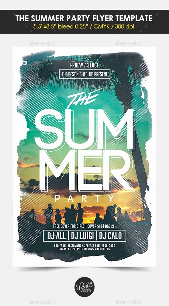 Summer Party Flyer Template New 25 Best Ideas About Party Flyer On Pinterest