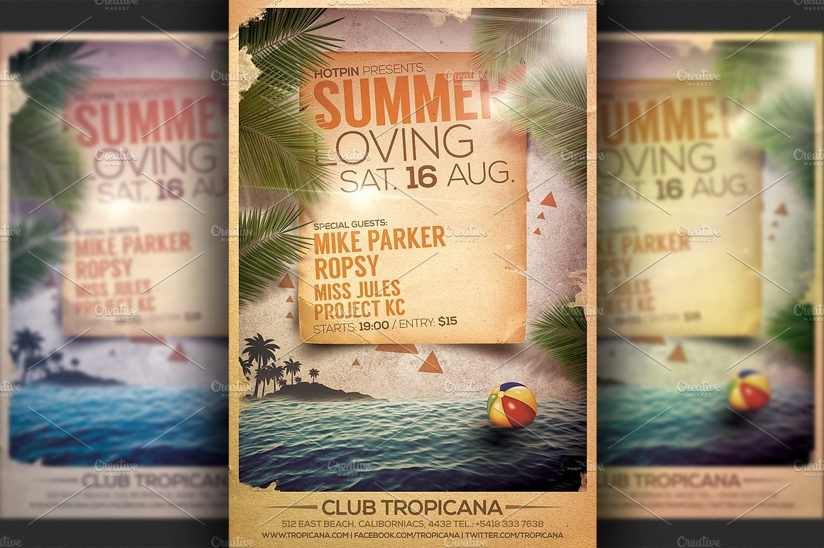 Summer Party Flyer Template New Summer Party Flyer Template Flyer Templates Creative