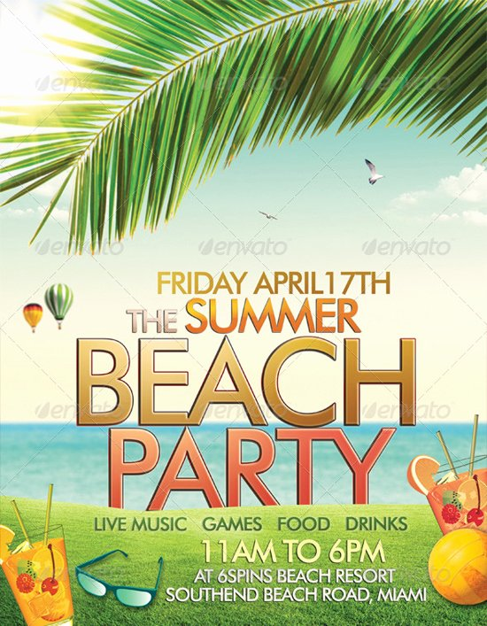 Summer Party Flyer Template New top 50 Summer Beach Party Flyer Templates 56pixels
