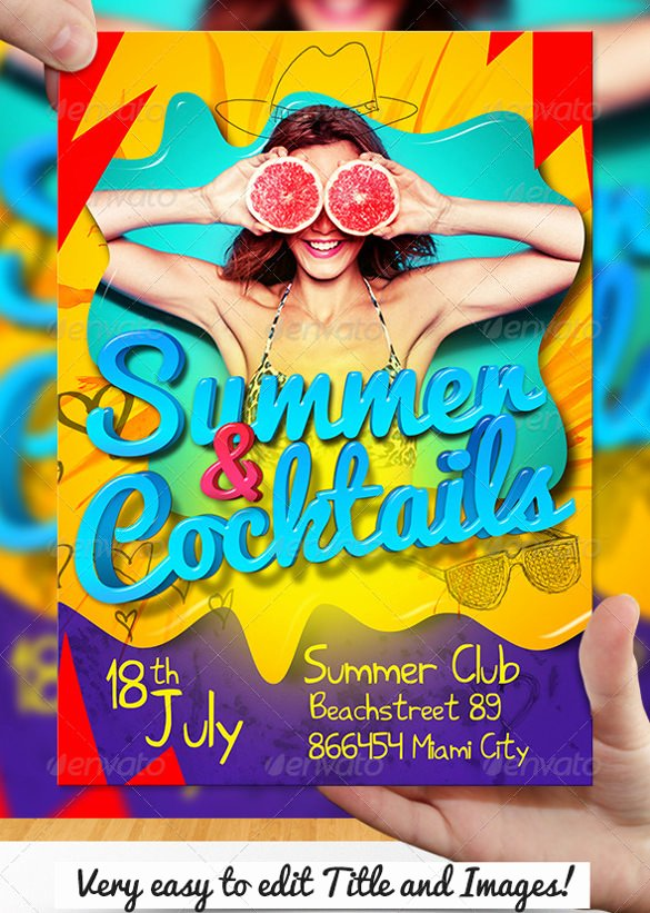 Summer Party Flyer Template Unique 47 Summer Party Flyer Templates Psd Ai Vector Eps