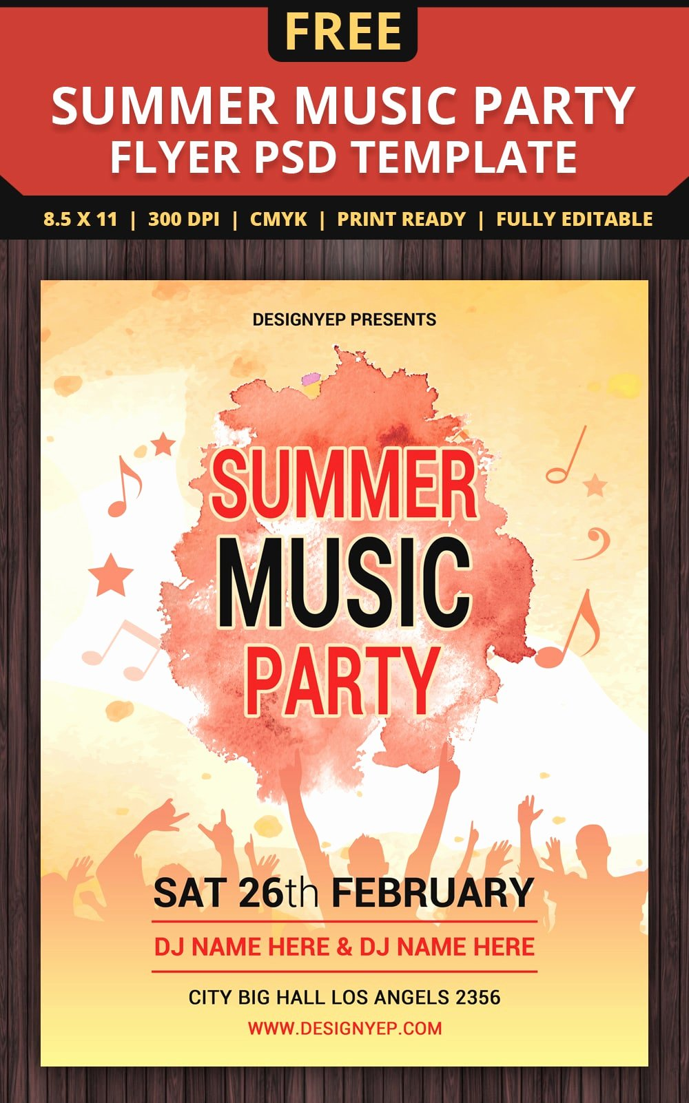 Summer Party Flyer Template Unique Free Flyer Templates Psd From 2016 Css Author