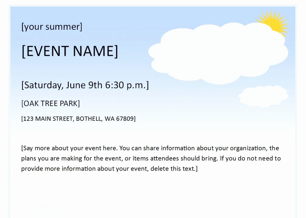 Summer Party Flyer Template Unique Summer event Flyer