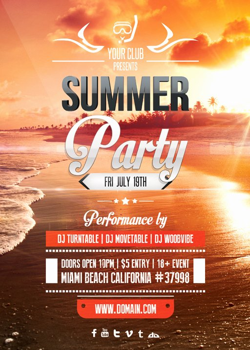 Summer Party Flyer Template Unique Summer Party Flyer Template by Vectormediagr On Deviantart