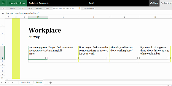 Survey Results Excel Template Awesome Workplace Survey Template for Excel Line