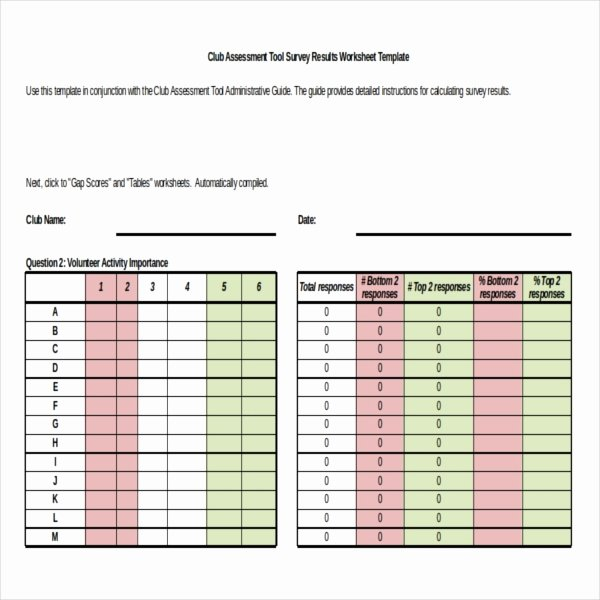 Survey Results Excel Template Fresh Survey Results Templates – 22 Free Word Excel Pdf