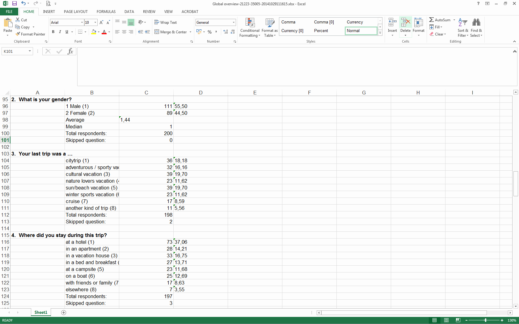 Survey Results Excel Template Lovely Analyze Your Survey Results In Excel Checkmarket