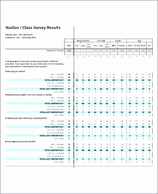 Survey Results Excel Template Luxury Excel Survey Results Template Excel Survey Results