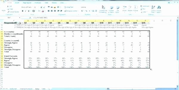 Survey Results Report Template Luxury Survey Results Excel Template as Well as Survey Analysis