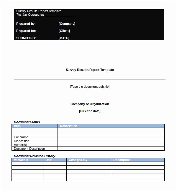Survey Results Report Template Unique Survey Report Template – 8 Free Word Pdf Documents