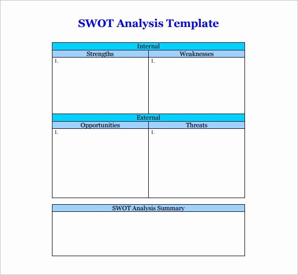 Swot Analysis Template Doc Beautiful 45 Swot Analysis Template Word Excel Pdf Ppt