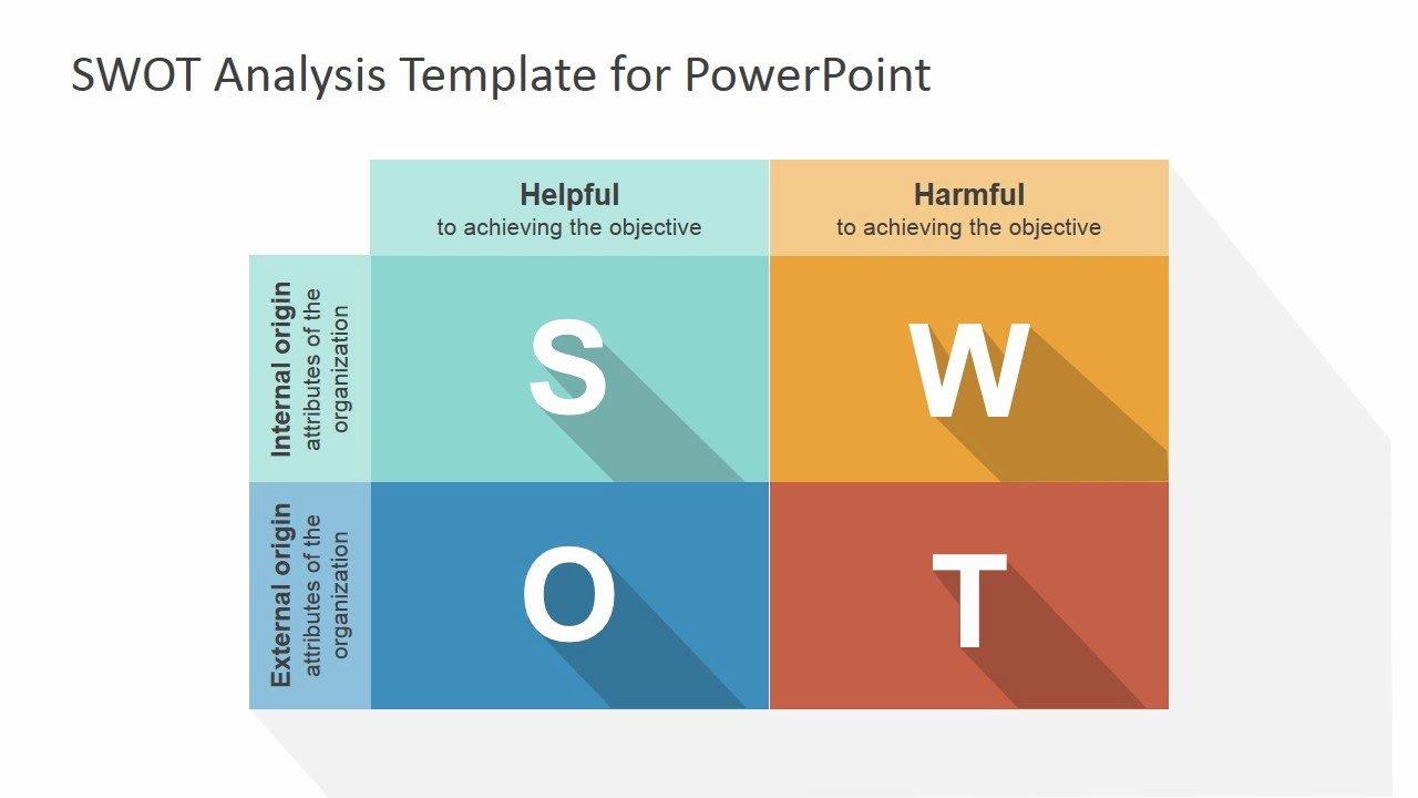 Swot Analysis Template Doc Unique Flat Swot Powerpoint Template Slidemodel