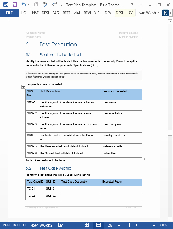 System Test Plan Template Best Of Test Plan – Download Ms Word & Excel Template