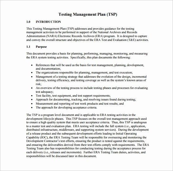System Test Plan Template Elegant 15 Test Plan Templates Pdf Doc