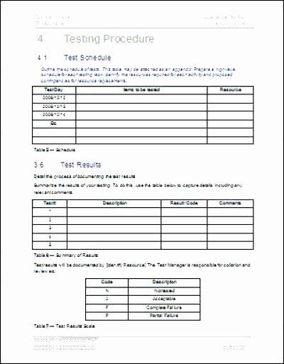 System Test Plan Template Fresh Acceptance Test Report Template Elegant software Testing