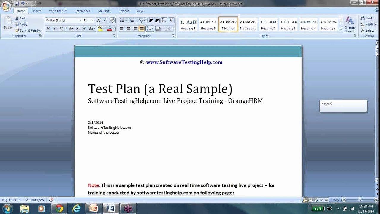 System Test Plan Template Unique Test Plan Test Plan Template Test Plan Document Test