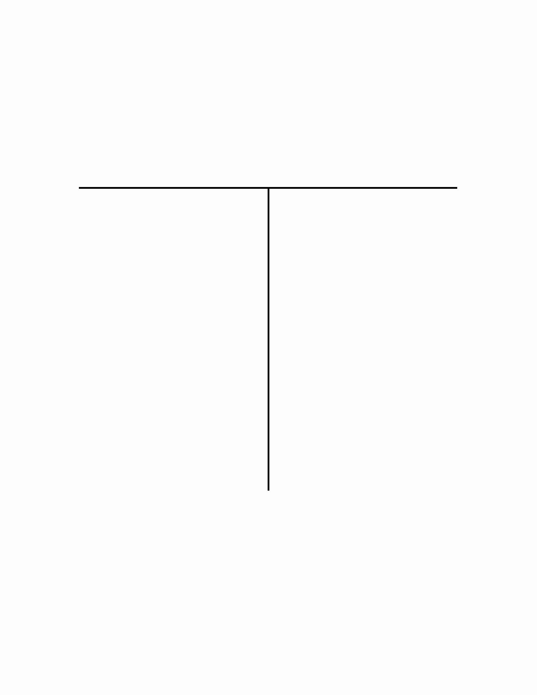 T Chart Template Pdf Elegant Blank T Chart Template Edit Fill Sign Line
