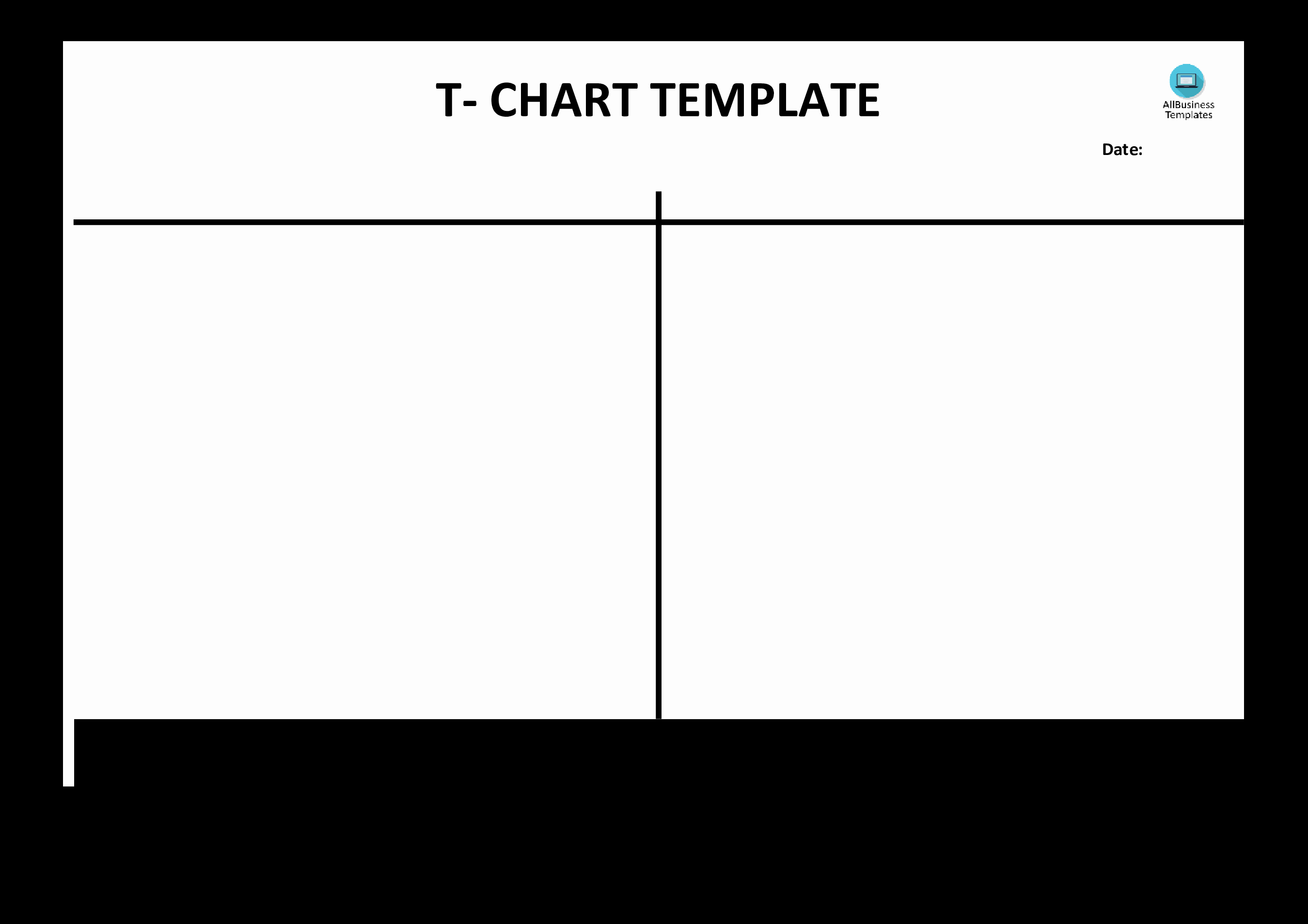 T Chart Template Pdf Inspirational Free T Chart Example Blank
