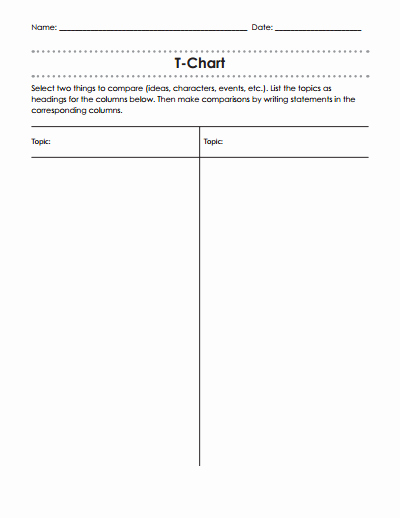 T Chart Template Pdf Inspirational T Chart Template Free Download Create Edit Fill and