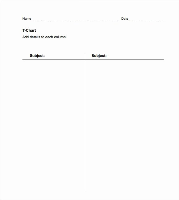 T Chart Template Pdf Lovely Sample T Chart Template 7 Documents In Pdf Word