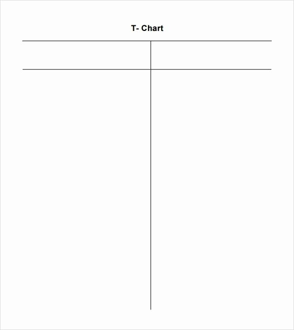 T Chart Template Pdf Lovely T Chart