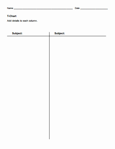 T Chart Template Pdf Lovely T Chart Template Free Download Create Edit Fill and