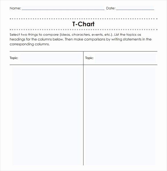 T Chart Template Pdf New 16 T Chart Templates Doc Pdf