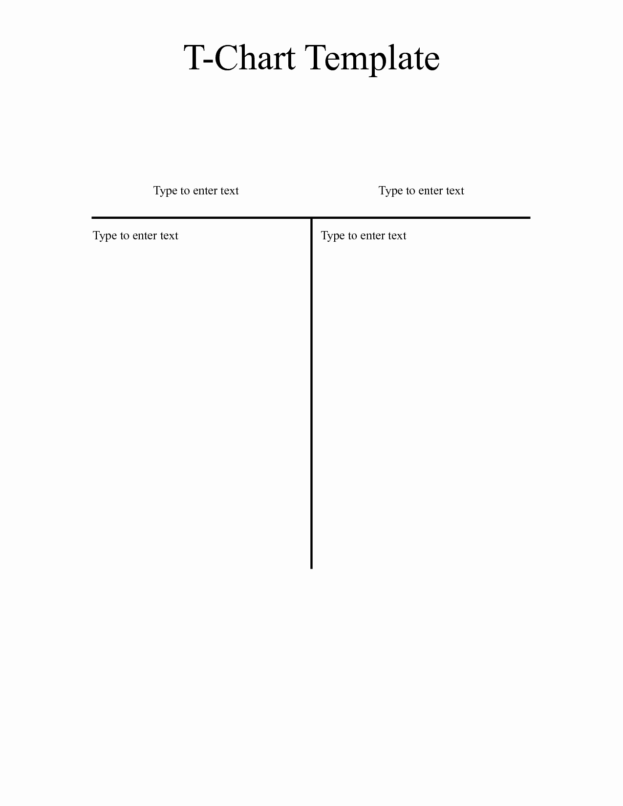 T Chart Template Word Beautiful T Chart Template