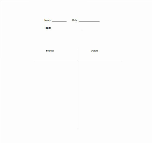 T Chart Template Word Best Of T Chart Template 15 Examples In Pdf Word Excel